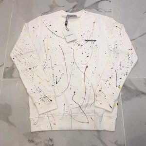 Balenciaga Men White Multicolor Sweaters Small
